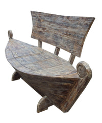 "Bootsbank ""Phinsi"" aus Recycling-Teak 190cm Rustic White - INSELLIEBE Store - Insel Usedom"