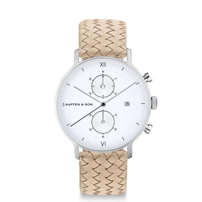 Chrono Silver - Sand Woven Leather - INSELLIEBE Store - Insel Usedom