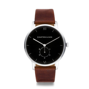 "Heritage Silver ""Black Brown Leather"" - INSELLIEBE Store - Insel Usedom"