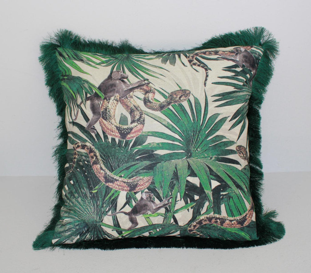 "Kissen ""Jungle Snakes"" - 50x50 - INSELLIEBE Store - Insel Usedom"
