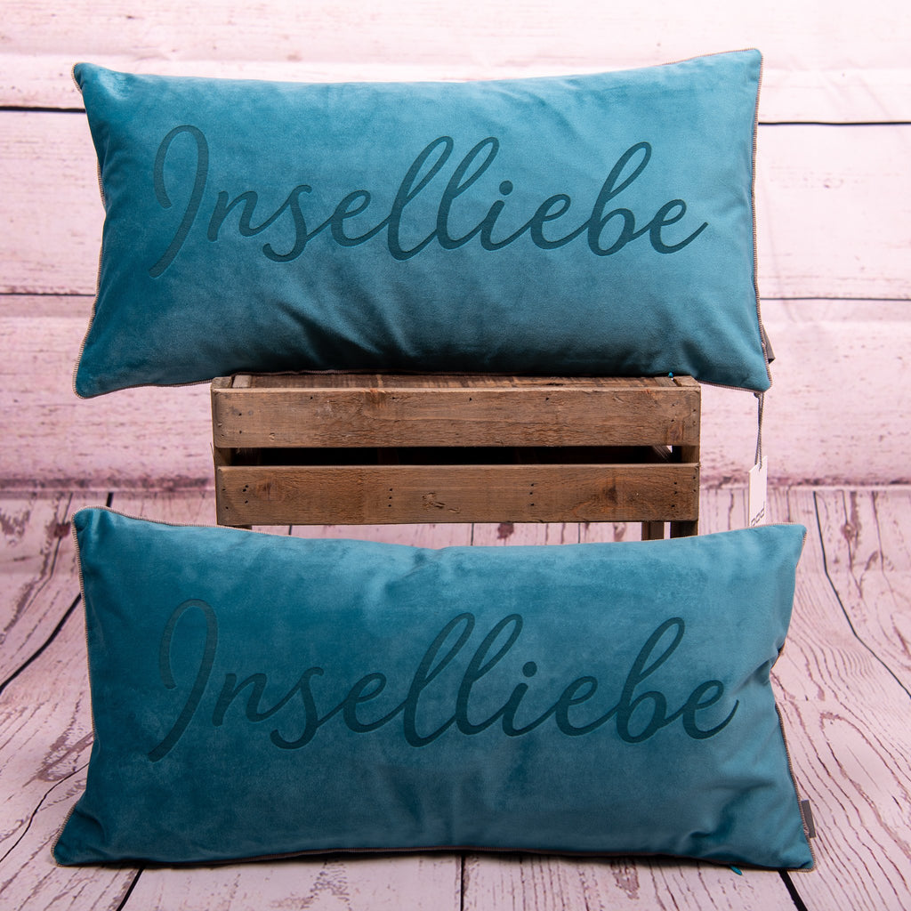"Kissenhülle ""City Aqua"" INSELLIEBE - 25x50 by pad concept - INSELLIEBE Store - Insel Usedom"