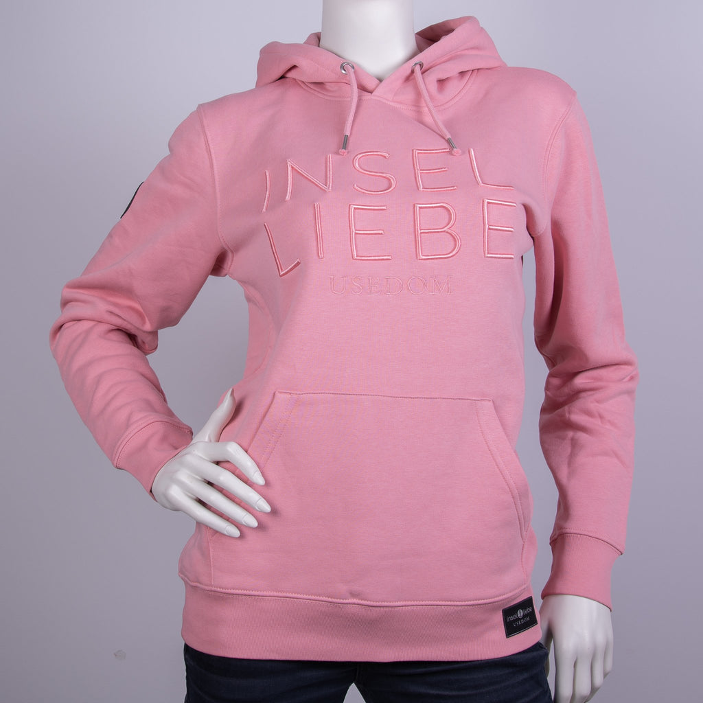 "Premium Hoodie ""INSELLIEBE"" - Altrosa 