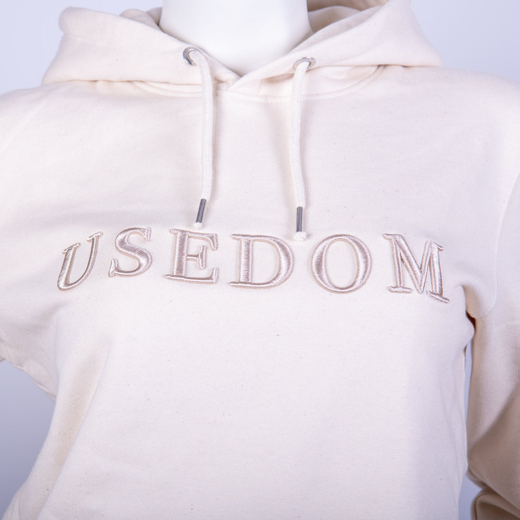"Premium Hoodie ""USEDOM"" - Cremeweiß 