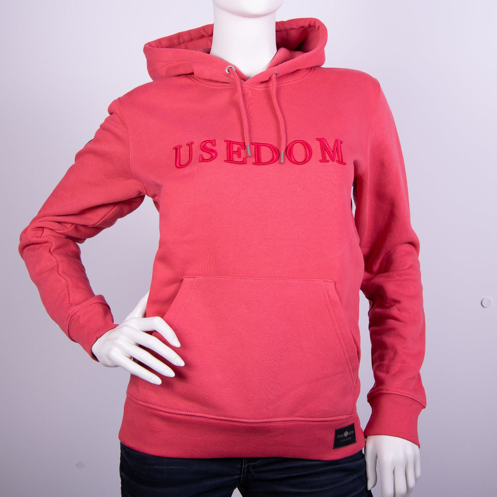 "Premium Hoodie ""USEDOM"" - Karminrot 