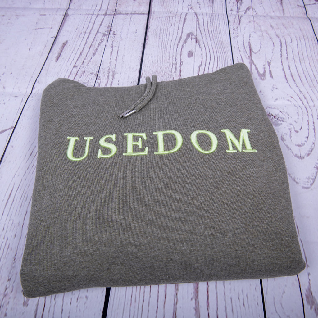"Premium Hoodie ""USEDOM"" - Khaki 