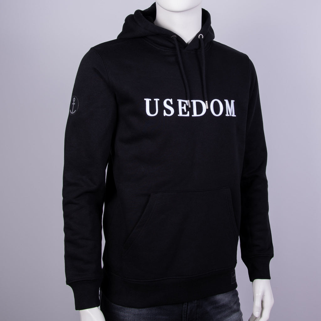 "Premium Hoodie ""USEDOM"" - Schwarz 