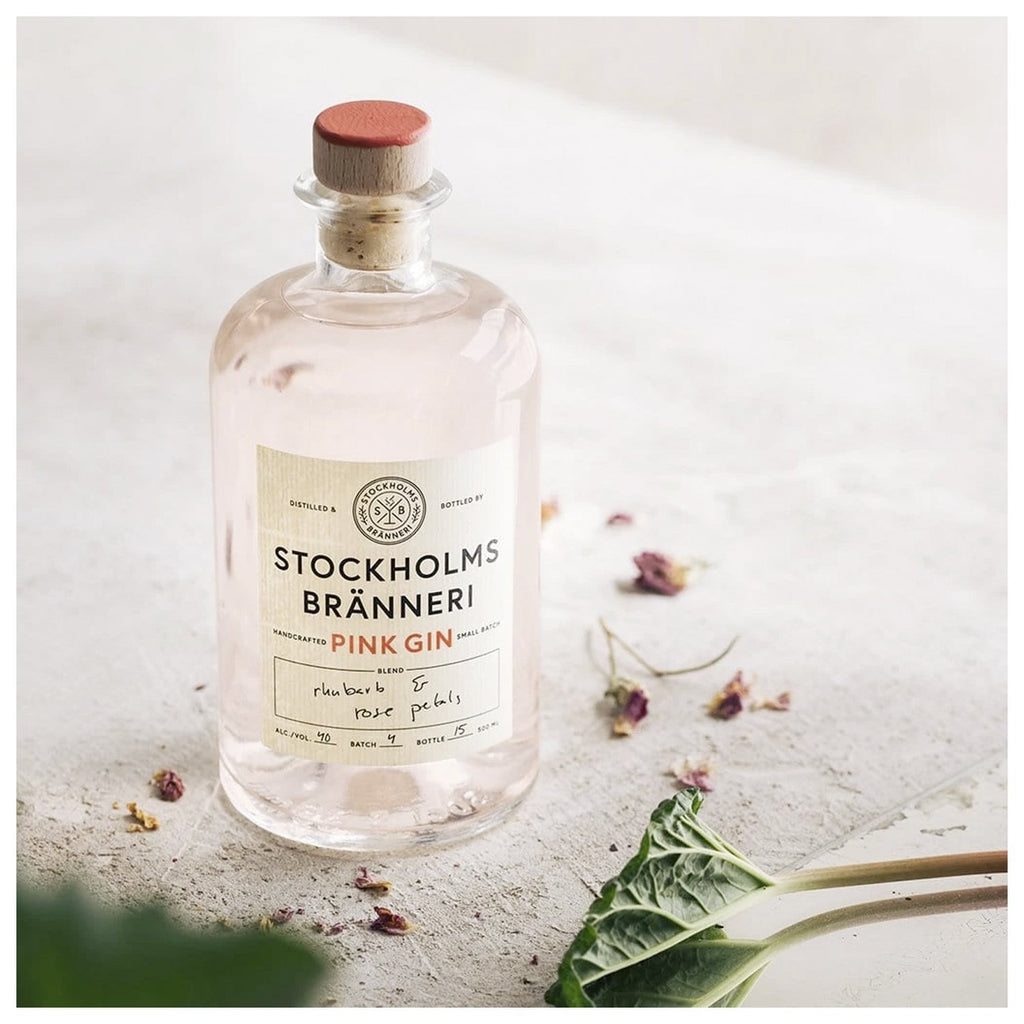 Stockholms Bränneri Pink Gin 40% Vol. Alc. 500ml - INSELLIEBE Store - Insel Usedom
