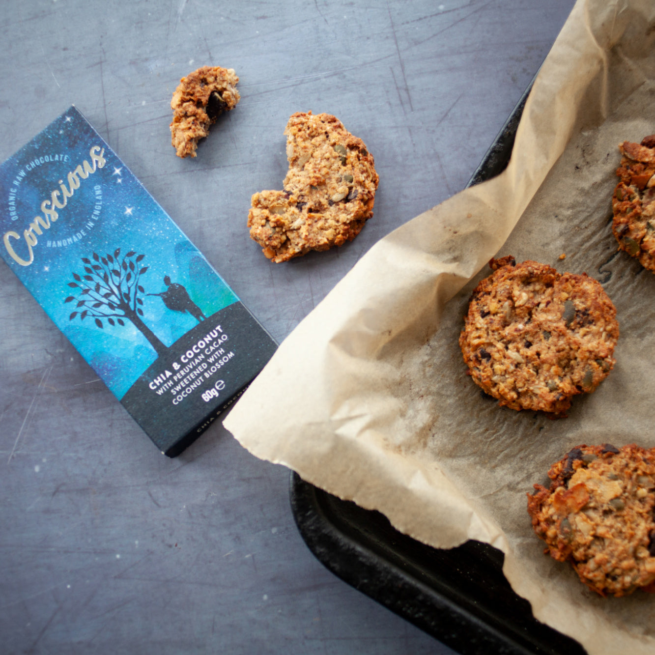 Chia & Coconut Chocolate Breakfast Cookies