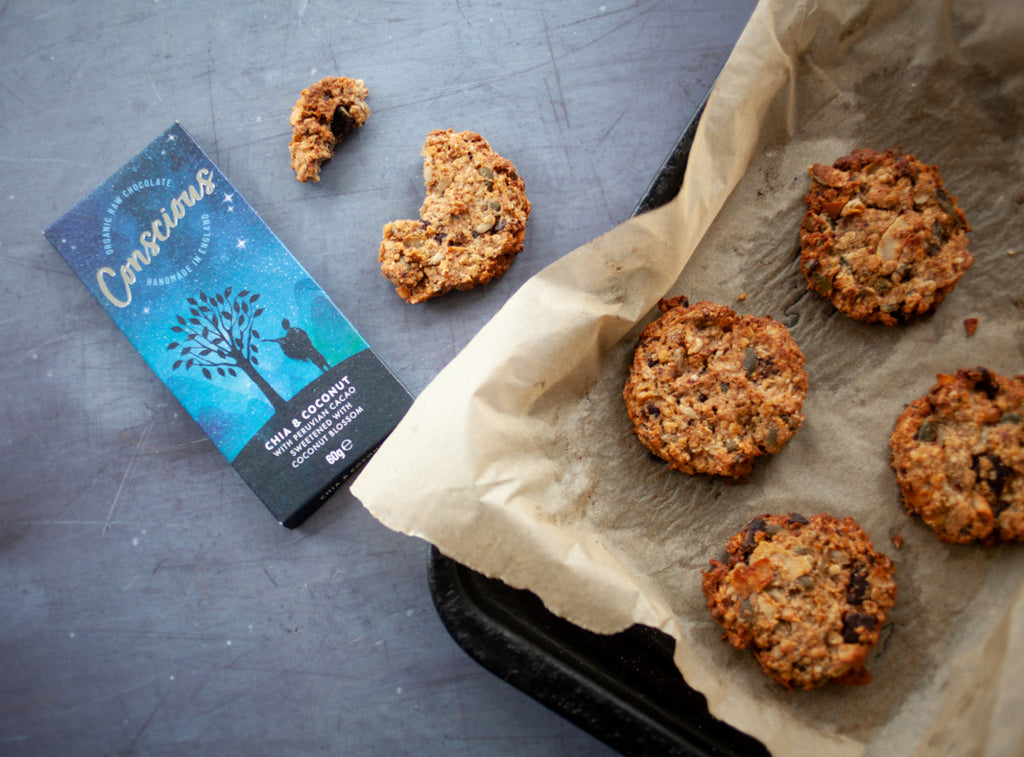 chia and coconut breakfast cookies