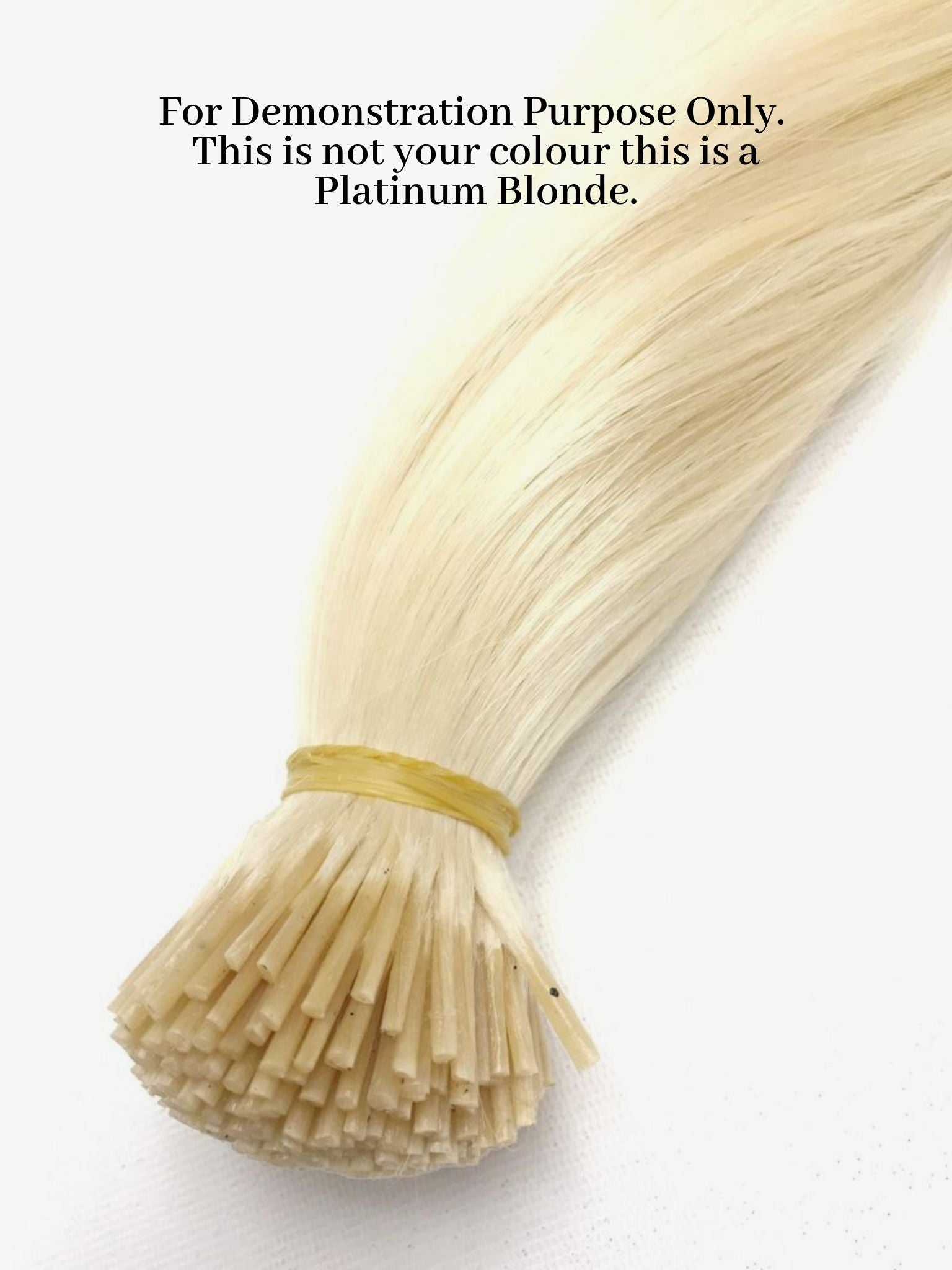 Stick Tip Hair Extensions - Icy Ash Blonde #61
