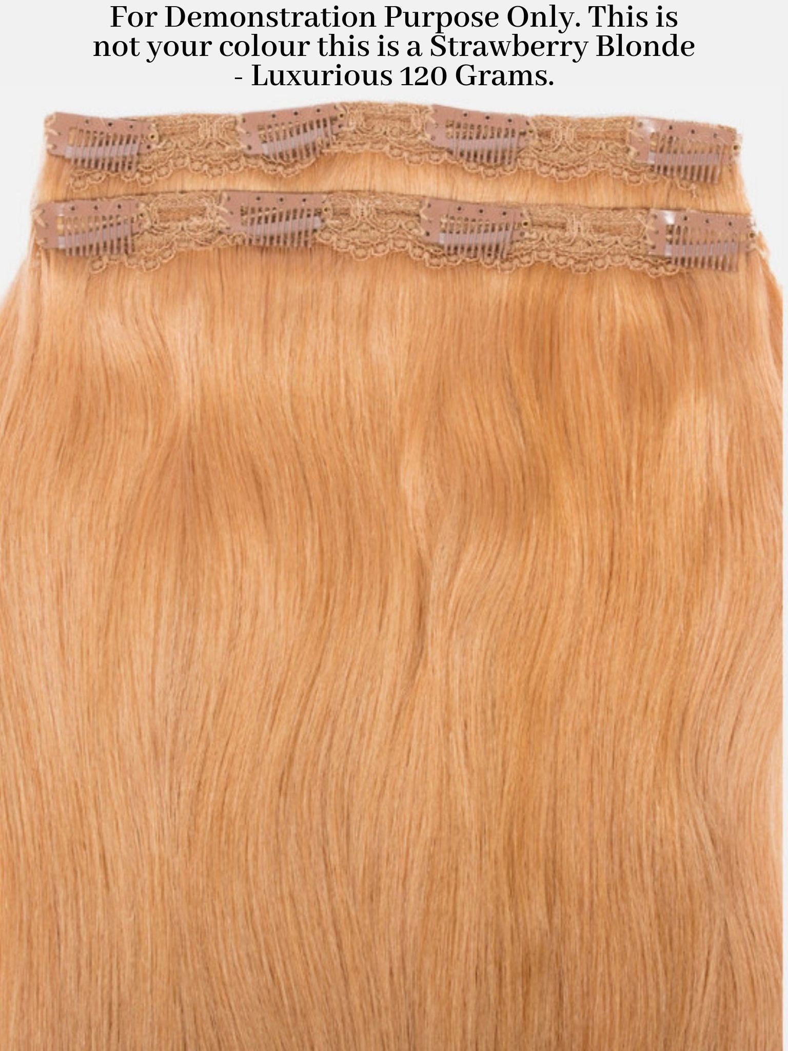 Clip-In Hair Extensions Platinum Blonde | Luxurious 100 Grams