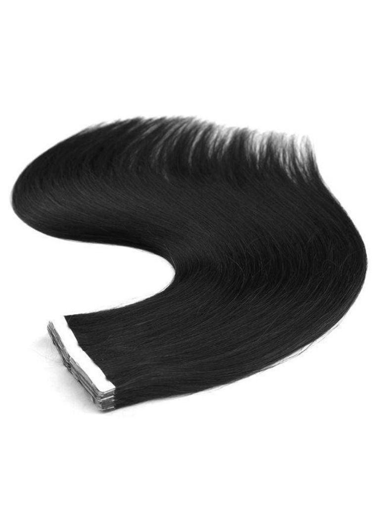 Seamless Tape-In Hair Extensions - Jet Black #1