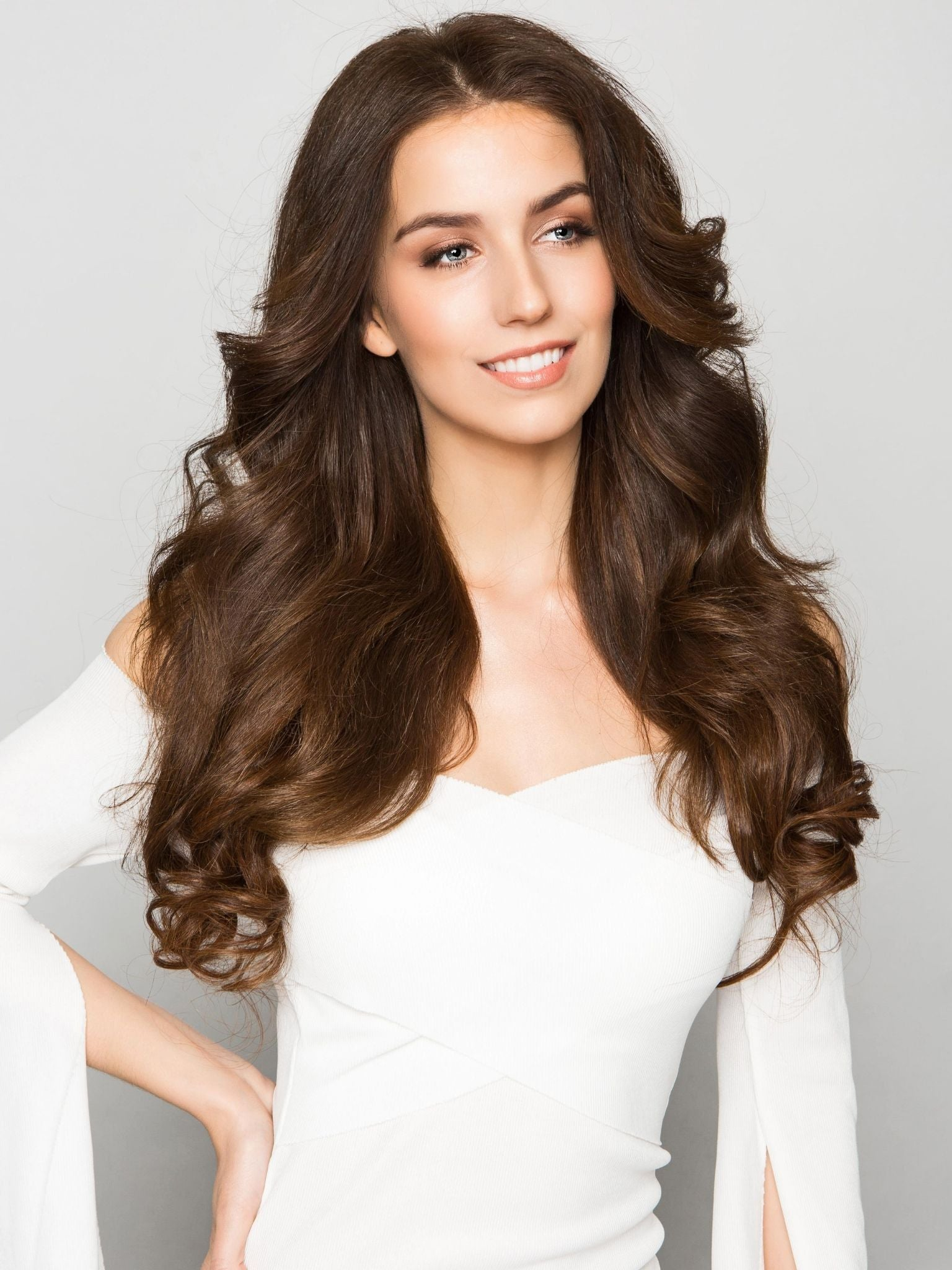 Stick Tip Hair Extensions - Truffle Brown #4