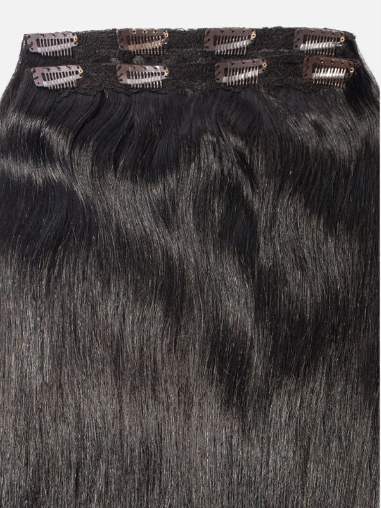 Clip-In Hair Extensions Jet Black | Luxurious 100 Grams