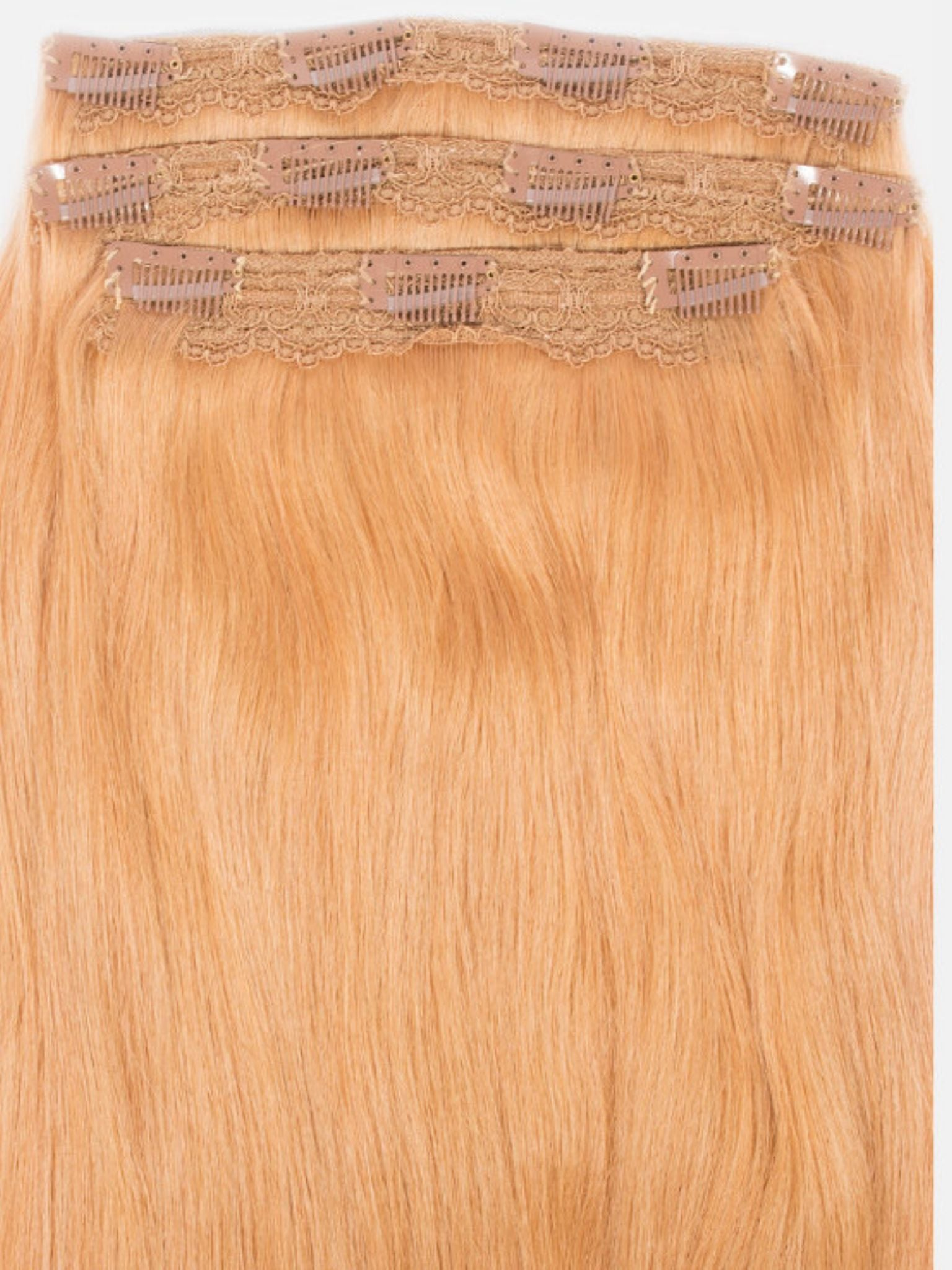 Clip-In Hair Extensions Strawberry Blonde | Superior 180 Grams