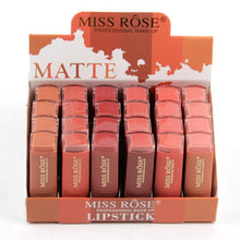 Load image into Gallery viewer, MISS ROSE Set of 6 Matte Waterproof Lipsticks