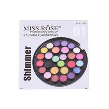 Load image into Gallery viewer, Miss Rose 27 Color Eyeshadow Palette