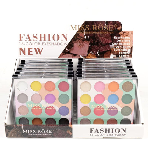 Miss Rose 16 Color Matte & Shimmer Eyeshadow Kit New