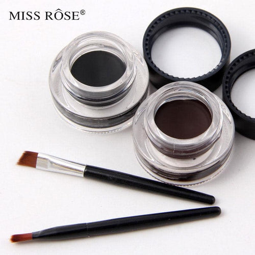 MISS ROSE Gel Eyeliner - 2 color set Black and Brown