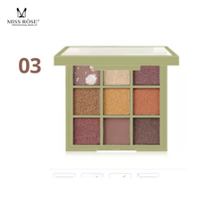 Load image into Gallery viewer, MISS ROSE 9 Colors Matte Pearlescent Powder Eyeshadow Palette