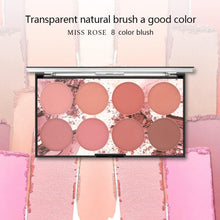 Load image into Gallery viewer, 8 Colors MISS ROSE Blush Palette