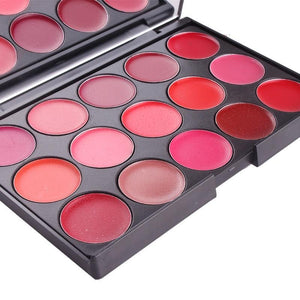 Miss Rose 15 Color Lipstick Matte Lip Cream Palette