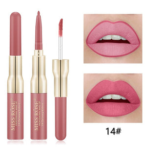Miss Rose Matte lip gloss + liner 2 in 1