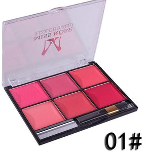 Miss Rose Makeup Blush Powder 6 Color Palette