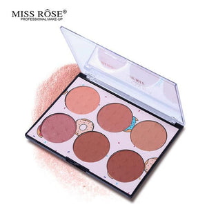 6 Color Miss Rose Blush Palette