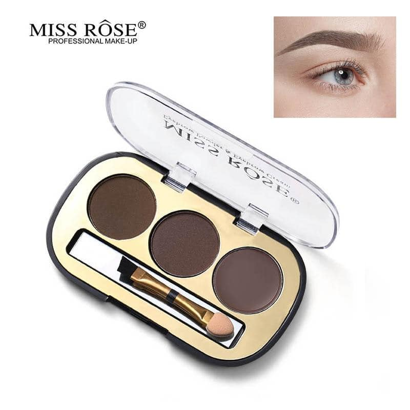 Miss Rose 3 Colors Eyebrow Powder
