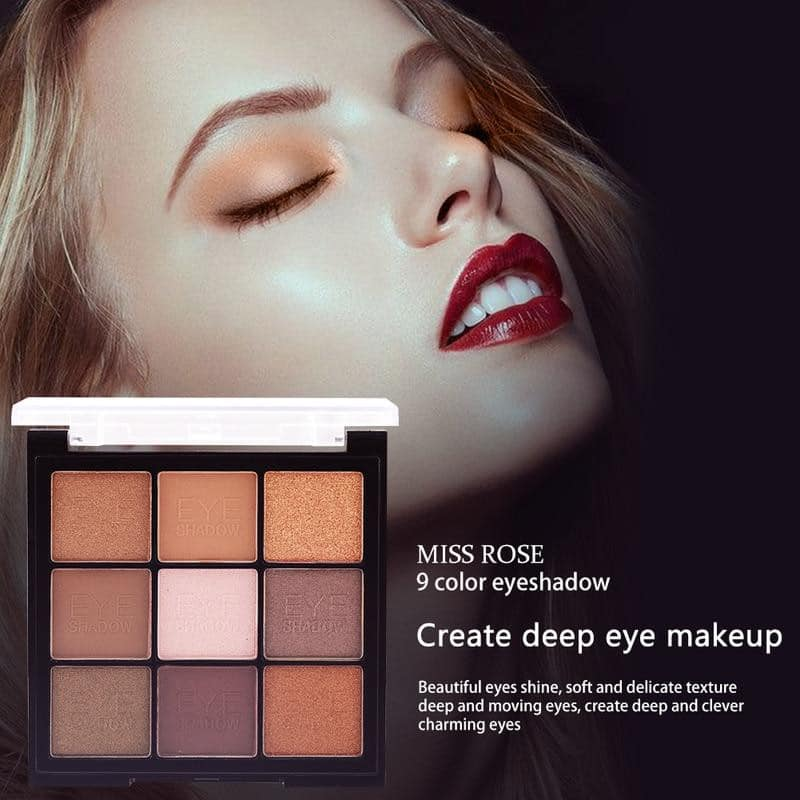 MISS ROSE 9 Color Pearlescent Matte Eyeshadow Palette