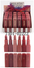 Load image into Gallery viewer, MISS ROSE Set of 6 Matte Waterproof Lipsticks -Z2