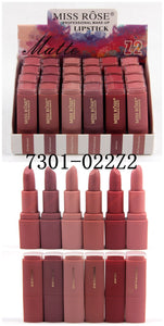 MISS ROSE Set of 6 Matte Waterproof Lipsticks -Z2