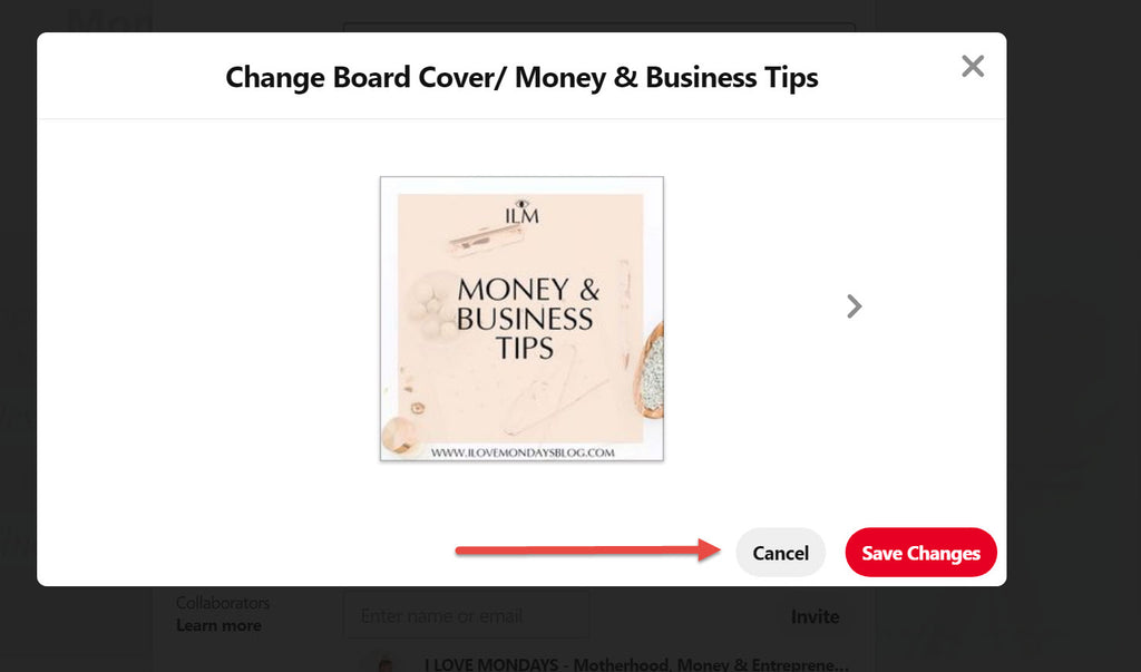 HOW TO UPLOAD A COVER TO YOUR PINTEREST BOARD