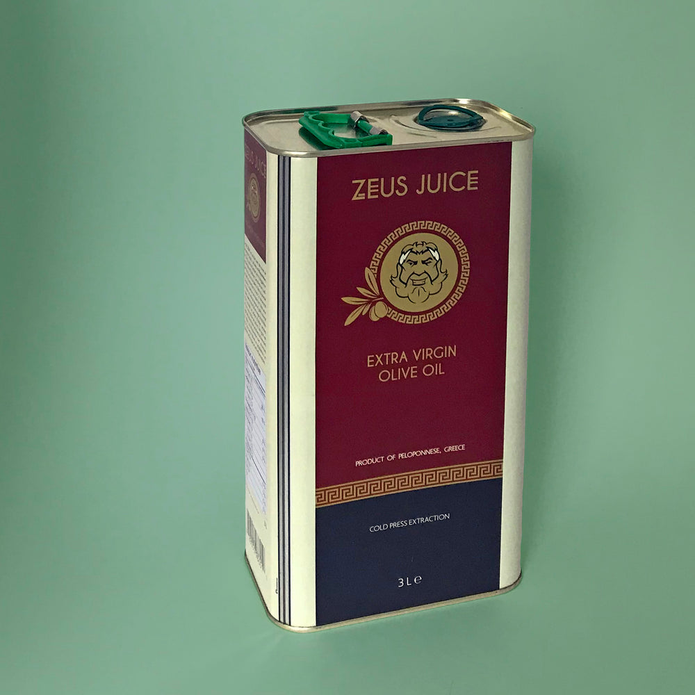 Zeus Juice Extra Virgin Olive Oil 3L Tin