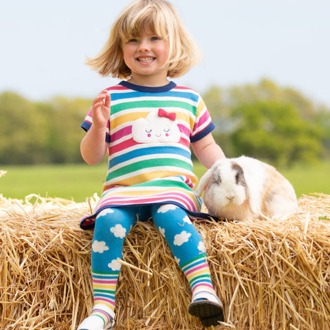 Kids Summer Clothing Tynemouth, Happy Cloud Knit Dress