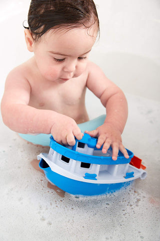 Perfect for the bath, this Paddle Boat is made from recycled plastic milk bottles
