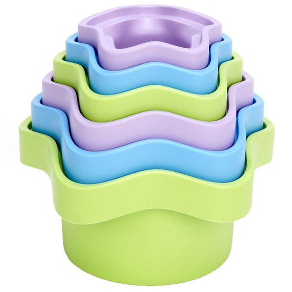 A great set of stacking cups from Green Toys - made from reclyed plastic milk bottles