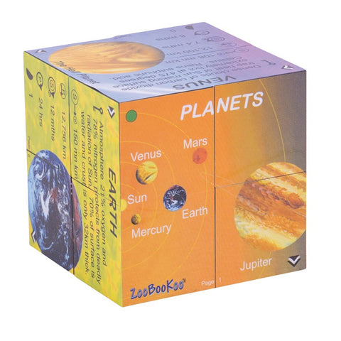 Brilliant Cubebook about Planets from Bigjigs Toys