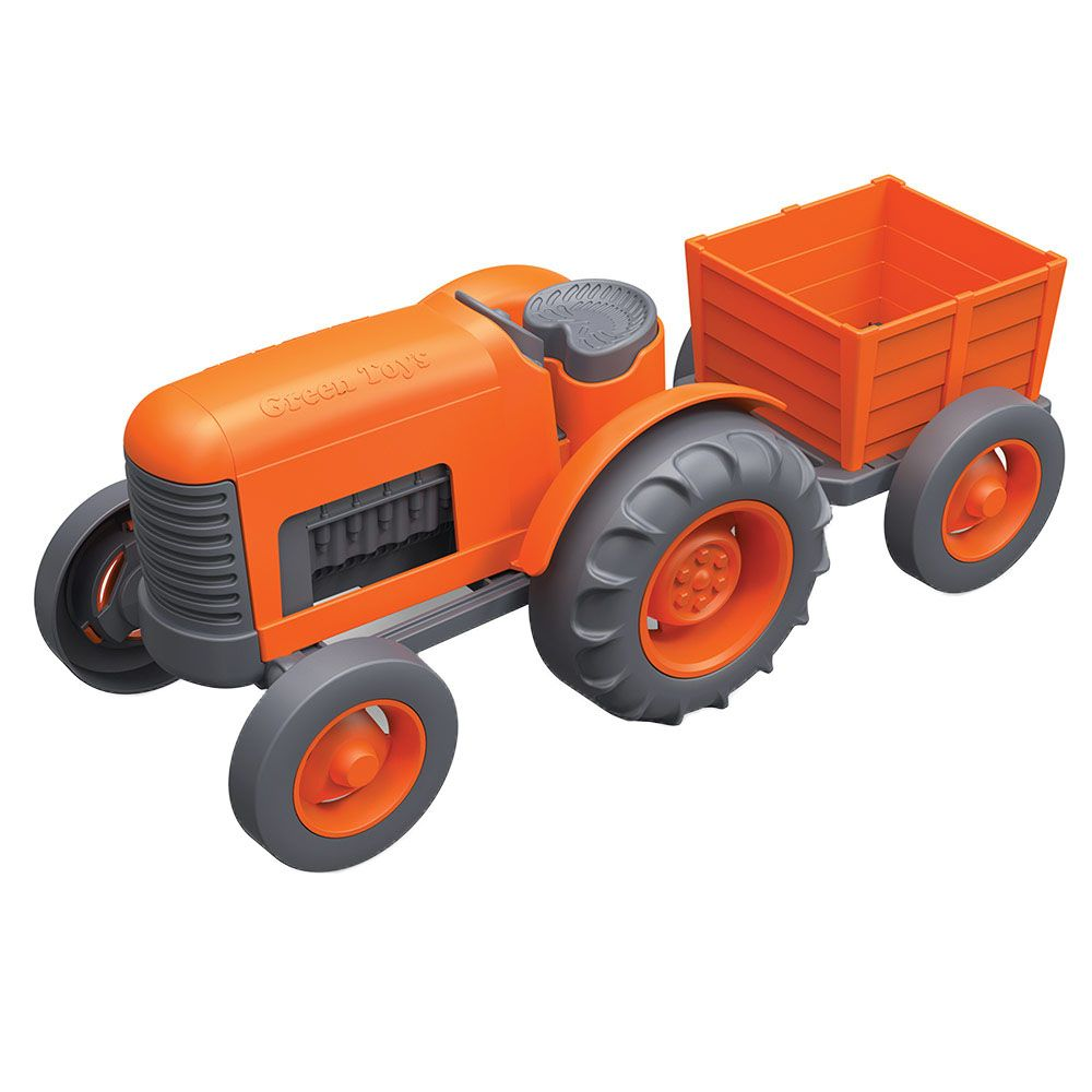 Orange Tractor from Green Toys