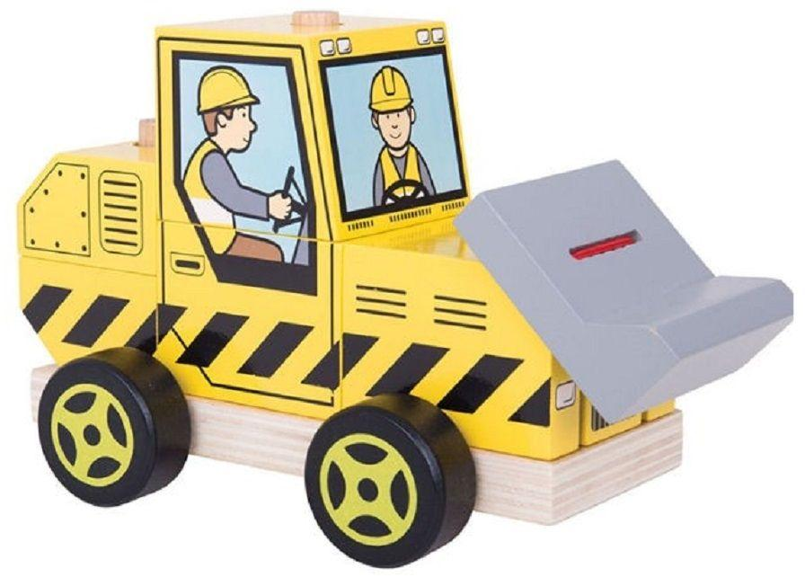 Wooden Stacking Bulldozer from Bigjigs