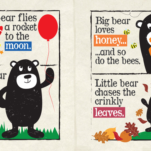 Nursery Times Crinkly Book Newspaper - Big Bear Little Bear