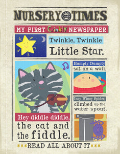 Nursery Times Crinkly Newspaper - Hey Diddle Diddle