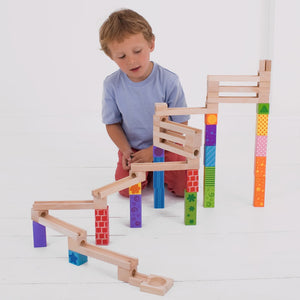Bigjigs Toys Amazing Wooden Marble Run