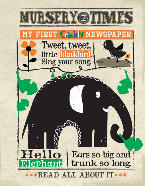 Nursery Times Crinkly Newspaper - Animals