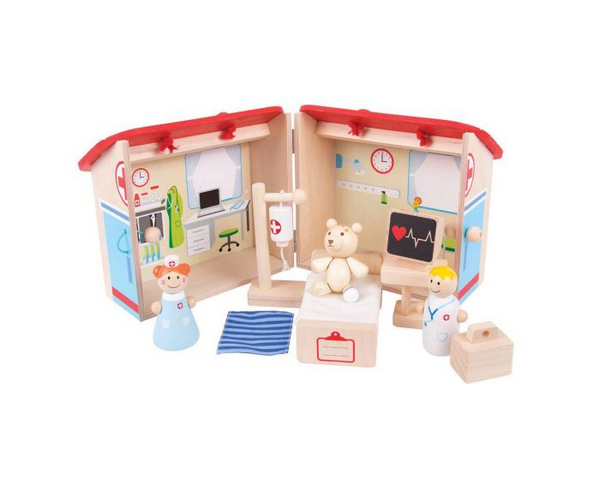 Mini Hospital Playset from Bigjigs