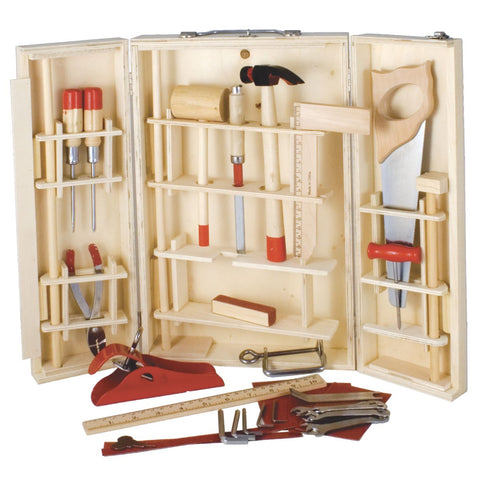 Brilliant set of 28 functioning tools in this wooden set.