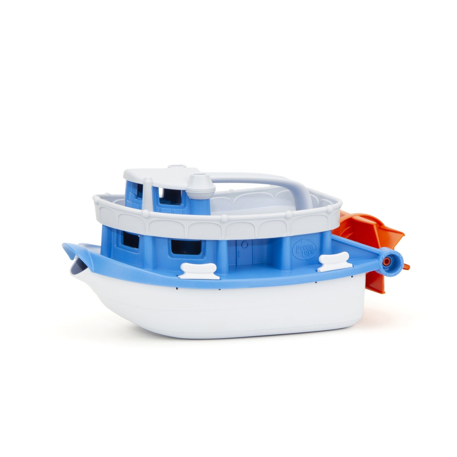 This paddle boat made from recyled plastic milk bottles is a durable toy that's perfect for bathtime fun - a front spout makes it good for hair washing too!