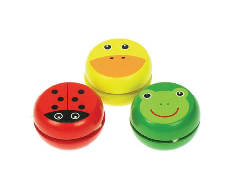 Great pocket money option - colourful, wooden, animal yoyo's