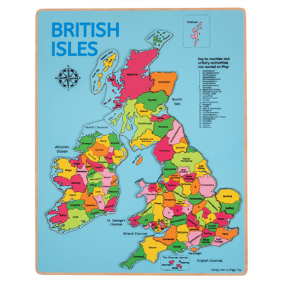 BigJigs Wooden Inset Puzzle - British Isles